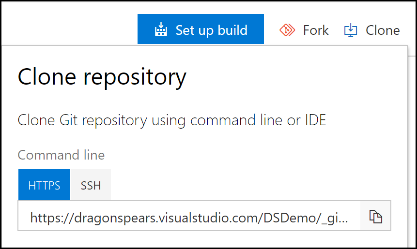 Set the provider to Git with the Repository URL